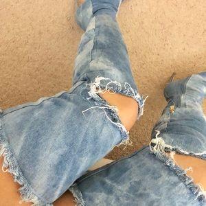 Shoes - Long jean boots